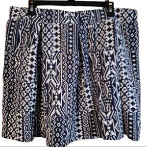 5/$20 Xhilleration XL Black White Skater Skirt